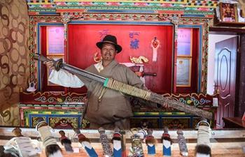 In pics: sixth-generation inheritor of Yigong Tibetan knife