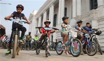 "People mark ""World Bicycle Day"" in Kathmandu, Nepal"