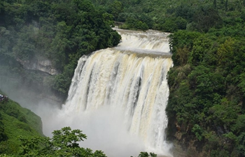 Huangguoshu Waterfall in China's Guizhou enters high flow season