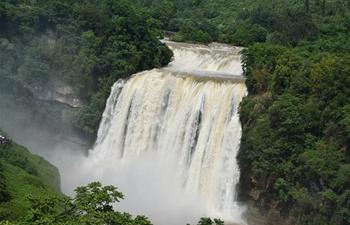 Huangguoshu Waterfall in China's Guizhou enters high flow season