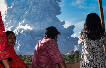 Mt. Sinabung erupts in western Indonesia, no casualty reported