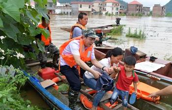 Heavy rainfall sweeps Jiangxi