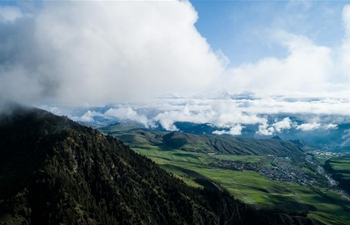 Scenery of Qilian County in northwest China's Qinghai