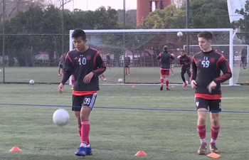 Chinese soccer player's passion leads him to Argentina