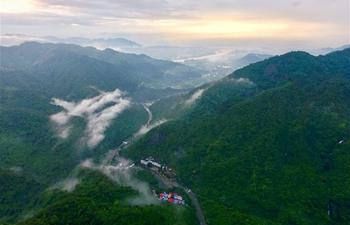 Scenery of Shibachongxi scenic spot after rainfall in SE China