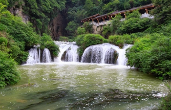 View of Tianhetan scenic area in Guiyang, SW China