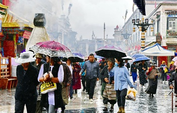 Rainfall hits China's Tibet