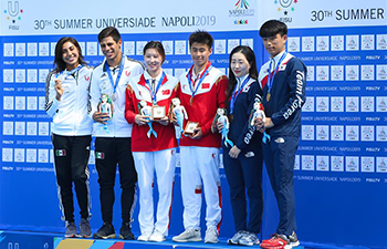 China wins mixed team event diving at 30th Summer Universiade