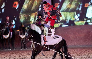 Equestrian performances staged in China's Inner Mongolia