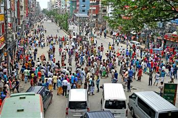 Traffic in parts of Bangladesh's Dhaka affected due to rickshaw-pullers' protest