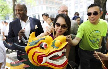 Dragon boat awakening ceremony held in New York