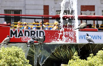 Heat wave hits Madrid, Spain
