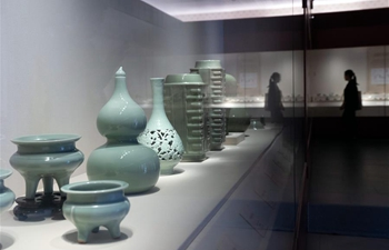 Longquan celadon pottery on display at Palace Museum