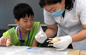 Children experience archaeological work, learn about Luoyang's history during summer camp