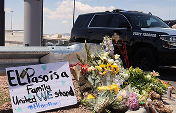 People mourn for mass shooting victims in El Paso of Texas