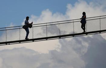 In pics: suspension bridge in Kirtipur, Nepal