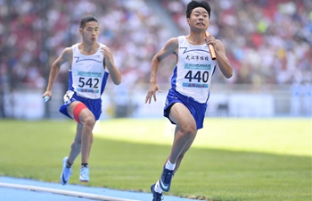 Highlights of men's 4x400m relay final at 2nd China Youth Games