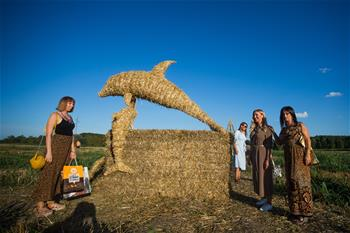 14th Straw Land Art Festival held in Bilje, Croatia