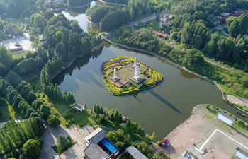 Aerial view of Kunming in SW China's Yunnan