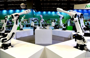 Automation intelligence and robot show held in SE China's Taiwan