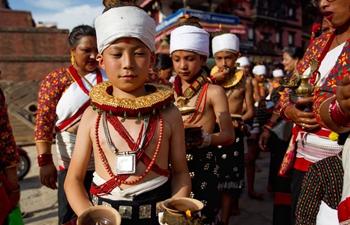 Nepalis perform ritual parade before Krishna Janmasthami Festival