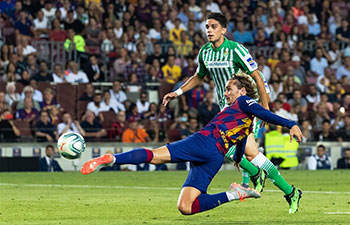 Spanish league: FC Barcelona vs. Betis