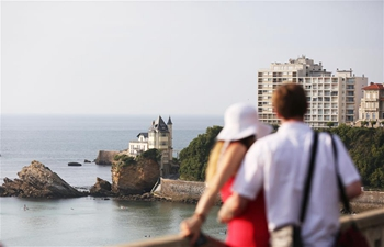 Seaside view in Biarritz, France