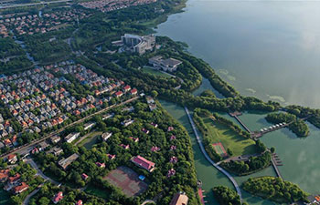 Scenery of Yangcheng Lake in Kunshan, China's Jiangsu