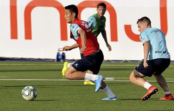 Espanyol holds training session in Barcelona
