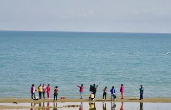 Scenery of Qinghai Lake in northwest China