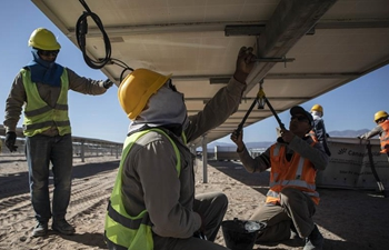 Feature: Argentina, China to conclude solar plant construction in mountainous province of Salta