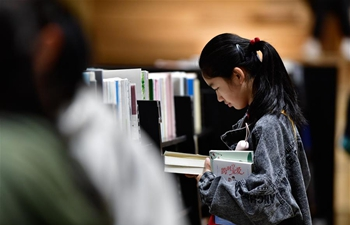 People spend National Day holiday at bookstores, libraries in Xining, China's Qinghai
