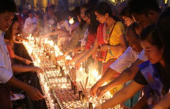 Traditional Thadingyut Lighting Festival held in Yangon