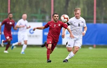 Men's football 1st round match at 7th CISM Military World Games: United States vs. Qatar