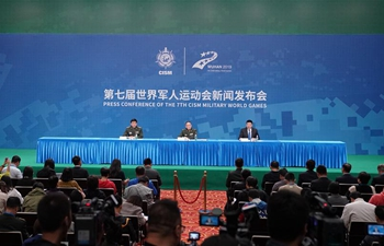 Press conference marking one-day countdown of 7th CISM Military World Games held in Wuhan