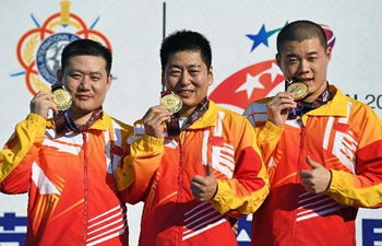 China wins tournament's 1st gold from 25m rapid fire pistol team at military games (updated)