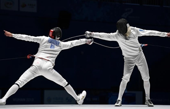 In pics: men's individual epee final at Military World Games