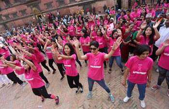Walkathon to raise awareness about breast cancer held in Lalitpur, Nepal