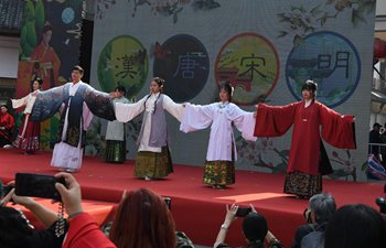 Hanfu show staged at 2019 China (Xuzhou) Han culture tourism festival