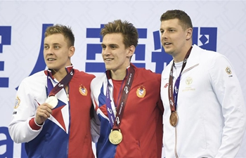 Daniil Pakhomov wins men's 100m butterfly gold at Military World Games