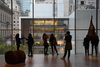Museum of Modern Art reopened in Manhattan of New York, U.S.