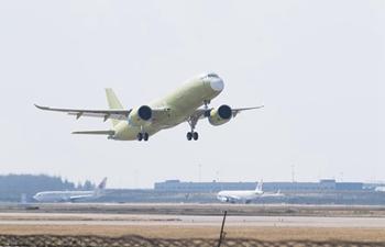 Fifth C919 jet completes maiden test flight