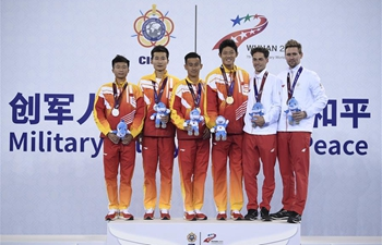 China Team win men's tennis doubles at Military World Games