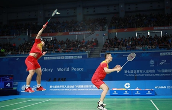 Highlights of men's badminton finals at Military World Games