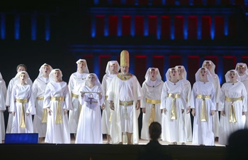Artists perform Opera Aida in Luxor, Egypt