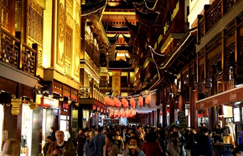 Night view of Yuyuan Garden in Shanghai