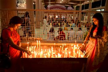 Diwali festival celebrated in Dhaka, Bangladesh