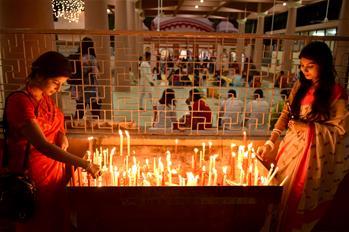 Diwali festival celebrated in Dhaka, Bangladesh
