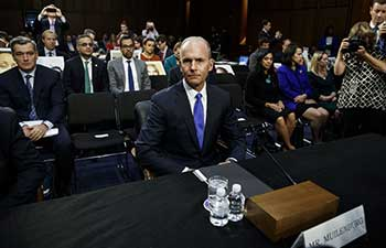 Boeing Chief executive apologizes to victims' families
