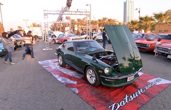 Vintage car show held in Kuwait City